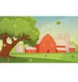 Farm Cartoon Landscape vector image vector image