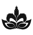 fashion mask icon simple style vector image