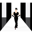 fashion model on the podium vector image