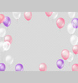 flying air balloons on transparent background vector image