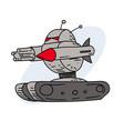 futuristic robot killing machine vector image