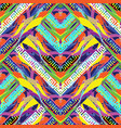 geometric colorful greek style seamless pattern vector image