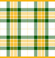 green and yellow tartan plaid seamless pattern vector image vector image