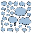 Hand Drawn Speech Bubbles and Thought Clouds vector image vector image