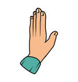 hand giving the five vector image