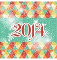 Happy new year 2014 celebration greeting card vector image vector image