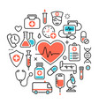 Health heart care concept medical icons signs
