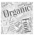How to Buy Organic Foods Word Cloud Concept