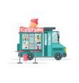 ice cream truck with ice cream cone on top street vector image vector image