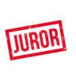 Juror rubber stamp vector image