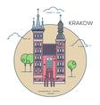 Krakow city vector image