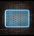 neon frame on the brick wall vector image vector image