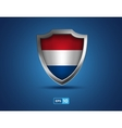 Netherlands shield on the blue background vector image