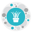 of agriculture symbol on aloe vector image vector image