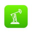 oil rig icon digital green vector image vector image