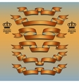 Orange ribbon set vector image vector image