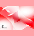 red and white color geometric abstract background vector image