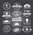 Retro restaurant vintage Insignias or logotypes vector image