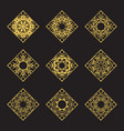 rhombus emblems set vector image