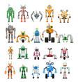 robots set modular collaborative android machines vector image vector image