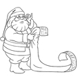 Santa Claus Reads From Christmas List Coloring vector image vector image