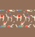 seamless pattern with different egyptian camel vector image