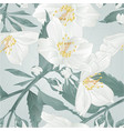 seamless texture twig flower jasmine and buds vector image vector image