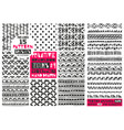 Set of 8 primitive geometric patterns collection