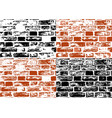 set of grunge brick wall textures vector image