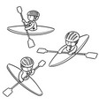 set of kayak vector image vector image