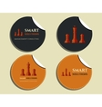 Set of labels - stickers Chess Smart solutions vector image vector image