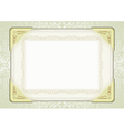sheet paper with gold fittings and decorative vector image vector image
