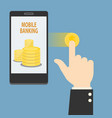 smart mobile banking vector image