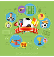 Soccer Infographics vector image vector image