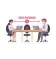 social distancing concept vector image vector image