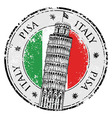 Stamp Pisa tower in Italy vector image vector image