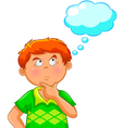 thinking boy vector image vector image