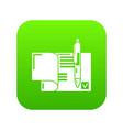 treaty icon green vector image