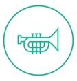 Trumpet line icon vector image vector image
