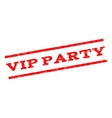 Vip Party Watermark Stamp vector image