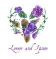 Watercolor of Violet Flowers vector image