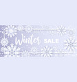 winter salesnowfall paper cut frame with sale vector image