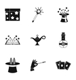 Witchery icons set simple style vector image vector image