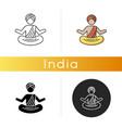 yogi in turban icon vector image