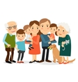 Happy big family portrait vector image