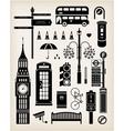 London city street icon set vector image