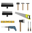 Set of tools vector image