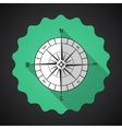 Retro Navigation Compas Flat Icon with long shadow vector image
