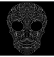 abstract skull on black background vector image