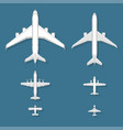 airplane top view plane and vector image vector image